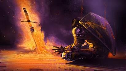 Souls Dark Backgrounds Knight Desktop Ii Wallpapers
