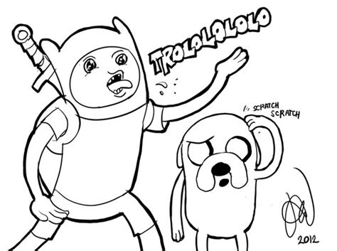 Jake The Dog Adventure Time Coloring Pages