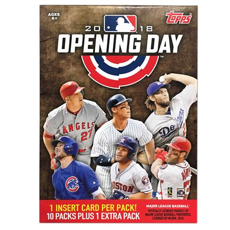 So you've decided you want to learn how to collect baseball cards, huh? 2018 Topps MLB Opening Day Baseball Value Box Trading Cards - Walmart.com - Walmart.com