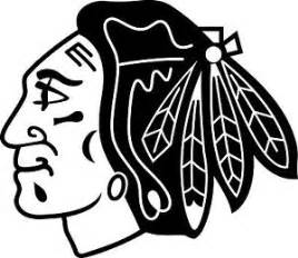 chicago blackhawks logo colouring pages blackhawk silhouette - Chicago Blackhawks Coloring Pages