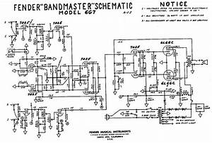 Fender  U0026quot Brown U0026quot  Bandmaster Tube Amp Schematic