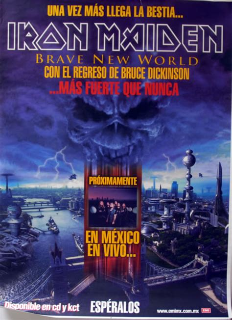 iron maiden brave  world mexican promo poster