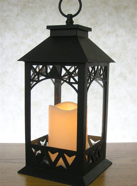 Candle Lanterns by Decorative Lanterns Black Lantern With Led Pillar Candle
