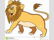Funny lion cartoon stock vector Illustration of mighty