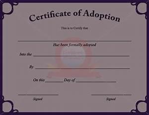fake adoption certificate fake certificate pinterest With blank adoption certificate template