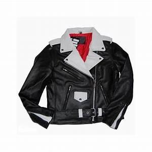 chaqueta cuero rockera mujer