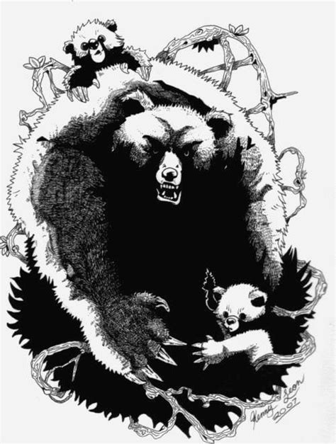 Revised Bear Tattoo by redmoon | Tribal bear, Bear tattoos, Tribal bear tattoo