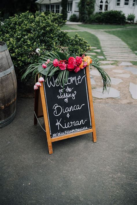 Welcome sign. Beautiful bright florals by The French Petal ...