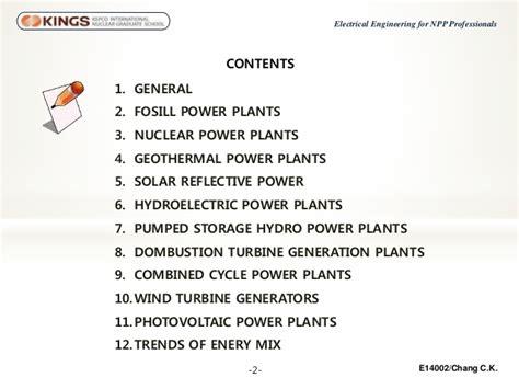 Types Of Generation Plant
