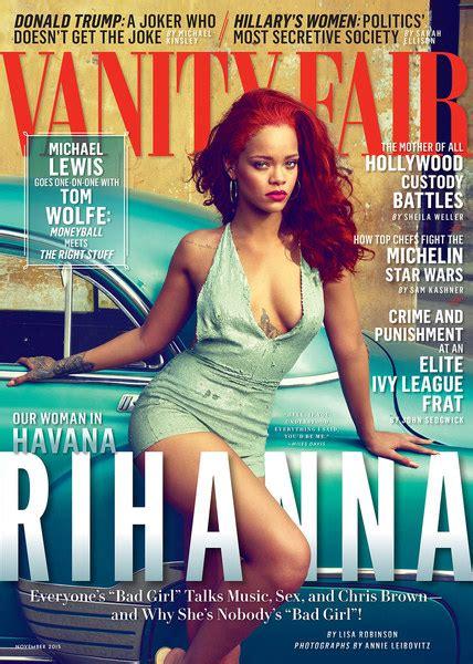 Brown Vanity Fair by Rihanna Covers Vanity Fair Magazine Talks Dating Chris