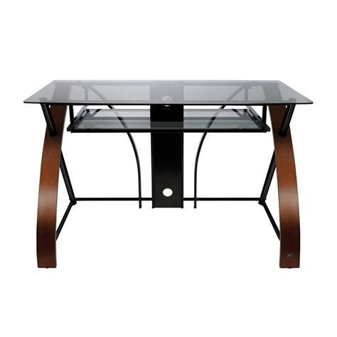 west elm glass desk furniture cool whalen desk with a simple profile and