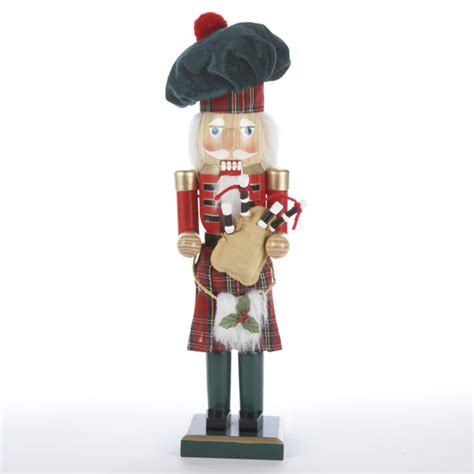 15 quot decorative wooden scottish bagpipes nutcracker table
