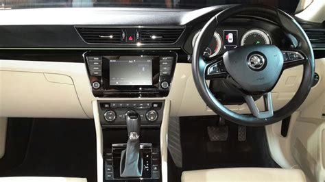 skoda superb india  interior dashboard
