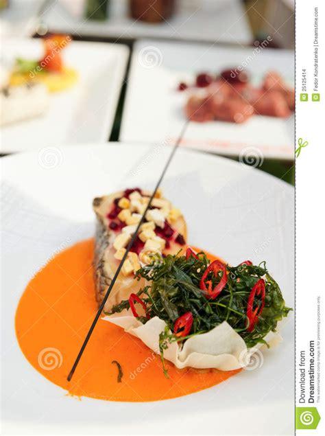 haute cuisine dishes seabass haute cuisine dish stock images image 25125414