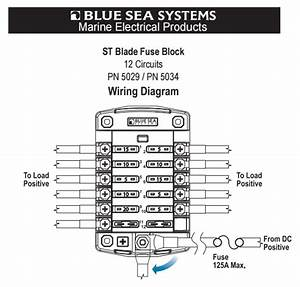 Blue Sea Systems Fuse Block With Cover For 12 Dc Circuits