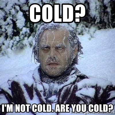 Cold Memes - cold i m not cold are you cold frozen jack meme generator