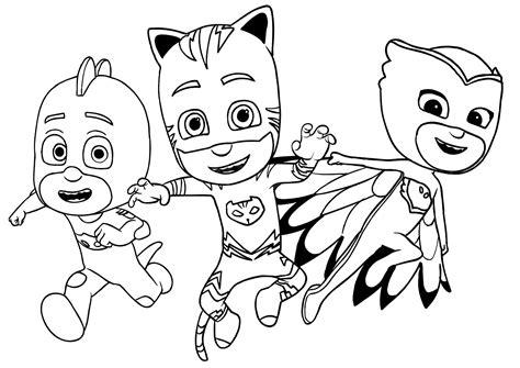 Pj Masks Kids Coloring Pages