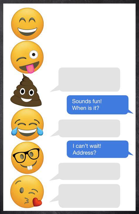 emoji birthday invitations  printable template paper
