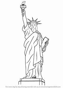 statue of liberty drawing coloring pages With statue of liberty drawing template