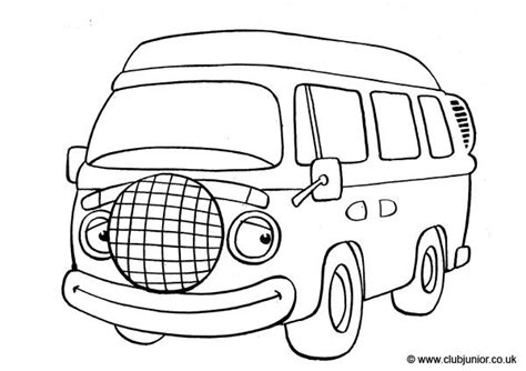 vw camper van colouring pages page  cards coloring