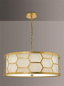 D, U00e4r, Metal, Hexagon, Large, Pendant, Ceiling, Light, Gold, Ivory, At, John, Lewis, U0026, Partners