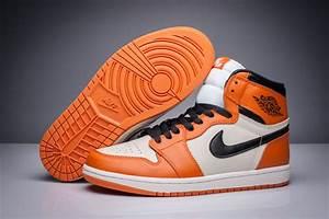Latest Jordan 1 White and Orange for Sale Mens Basketball ...