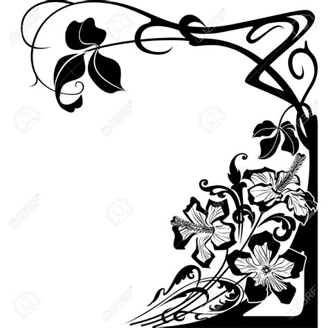 art nouveau style ls flowers and floral design in art nouveau style royalty