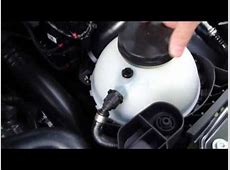 How to checkadd coolant level BMW 3 serie F30 Years 2013