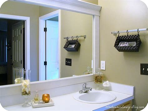 How To Frame Bathroom Mirror With Molding by Bathroom Mirror Framed With Crown Molding In 2019 For