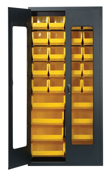 kitchen cabinets with windows clear view security bin cabinets complete packages with bins 6485