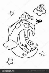 Dachshund Coloring Pages Dog Moon Cartoon Drawing Puppy Wiener Printable Dream Getdrawings Getcolorings Colori sketch template