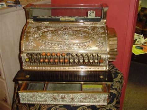 edwardian ncr brass cash register