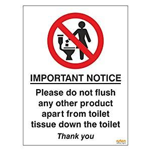 Pack Of 2 Toilet Signs Important Notice, Please Do Not