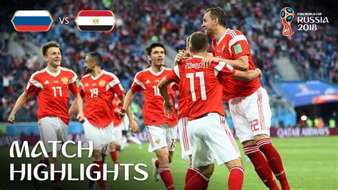 Russia Egypt Fifa World Cup Match