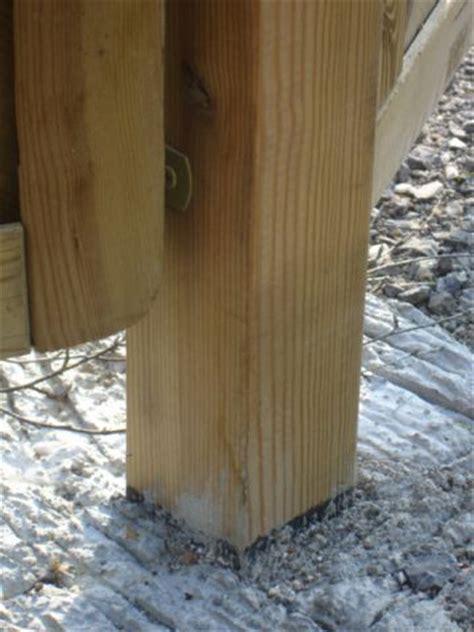 poteau bois 15x15 fixation panneau de bois 6 messages