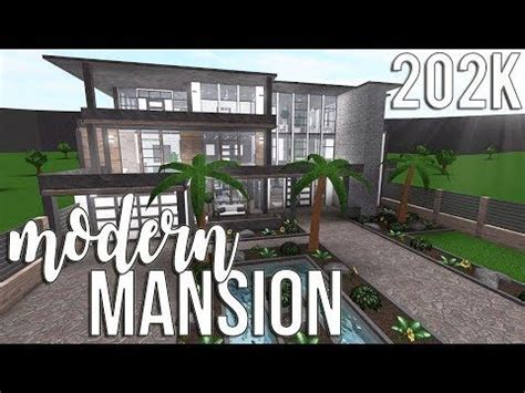roblox bloxburg modern mansion  youtube modern mansion beautiful house plans house