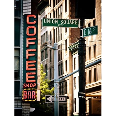 Union square's iconic diner coffee shop will close in october. Coffee Shop Bar Sign, Union Square, Manhattan, New York ...