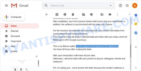 'account was hacked' or 'your account was hacked!'. 1A19CzQQ5ZFxK57LWoAn2rFScTda6DnK1q Bitcoin Email Scam