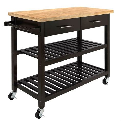 kitchen carts islands utility tables new brown kitchen island wooden utility cart rolling