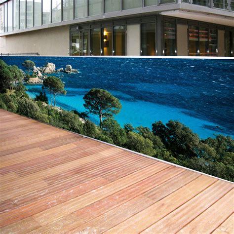 brise vue toile brise vue de jardin en polyester d 233 cor tamaricio 500 x 100 cm