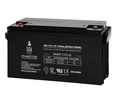 siga akku  ah agm batterie photovoltaik