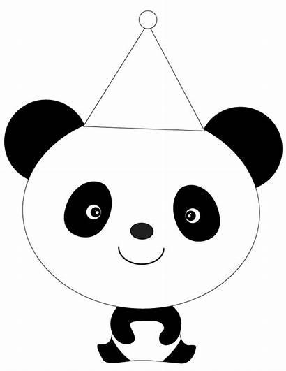 Coloring Pages Printable Panda Cartoon Bear Cliparts