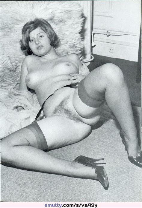 Retro Vintage Stockings Heels Hairy Milf Mature