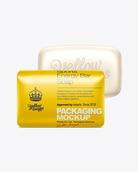 Download this free photoshop mockup of soap bars and paper boxes. Soap Bar Mockup in Packaging Mockups on Yellow Images ...