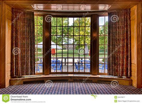 auditorium  bay window frame stock image image