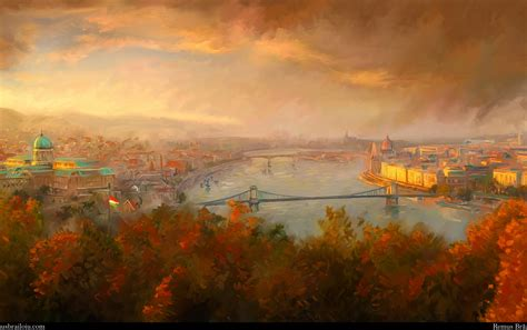 autumn city river budapest wallpapers autumn city river