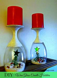 DIY Wine Glass Candle Holders - A Mitten Full of Savings