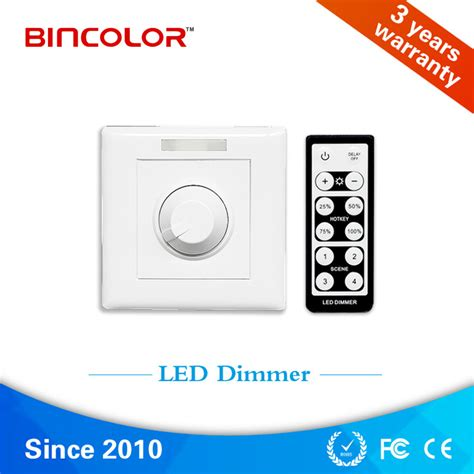 dc 12v 24v 6a rotary led strip dimmer with ir remote