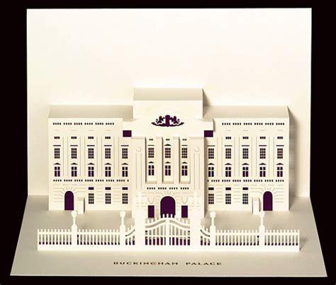 beautiful paper cut pop  cards  londons famous