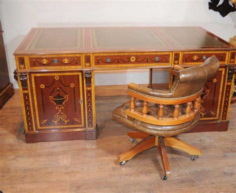 bureau writing desk sheraton partners desk writing table regency inlay bureau